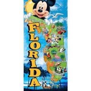 Disney beach towel ,Florida Map Beach Towel